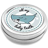 FANS & Friends Tooth Fairy Box for Boys & Girls, Shark, e-Book, First Tooth Keepsake Box, Baby Tooth tin, Tooth Holders for Kids Tooth Box Keepsake