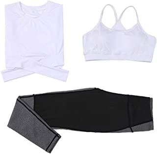 Yoga Wear Women's Sport Suits 3-pieces Set Sweatsuits Yoga Jogging Tracksuits