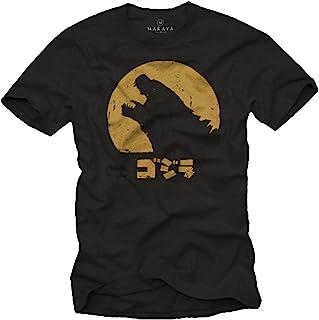 MAKAYA Camiseta Frikis Hombre - Godzilla