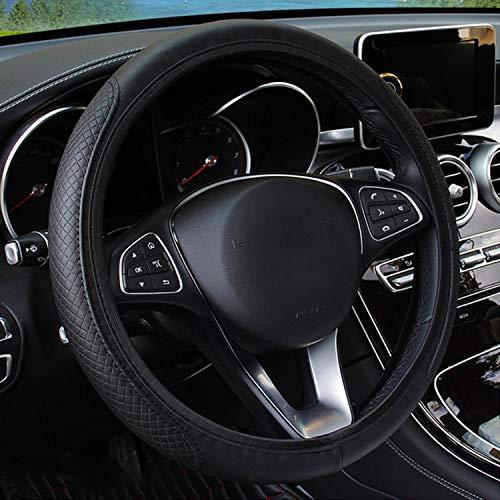 DLDBB Funda para Volante de Coche con Cuero Negro, para Jaguar I-Pace, XJ, XF, F-Type, Modelos de la