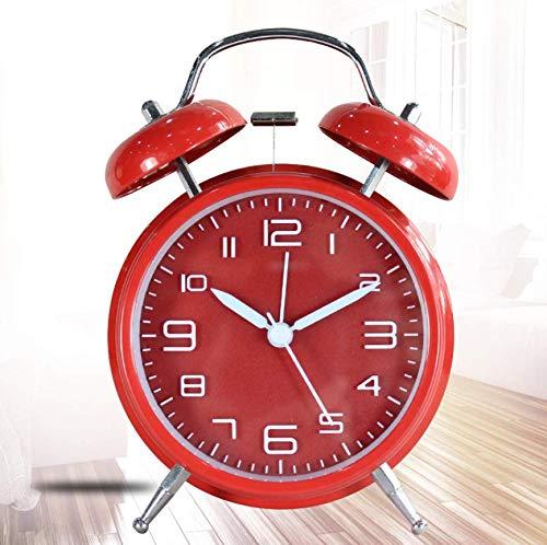 Retrowekker, wekker, retro alarm, luid geluid, hoofd, klok voor studenten met creatieve persoonlijkheid, multifunctioneel, stil, kleine wekker