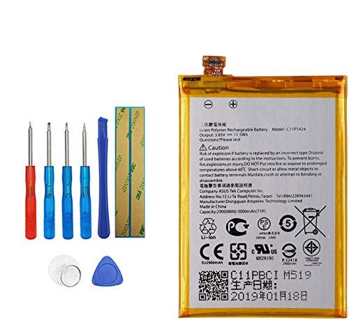 E-YIIVIIL Batería de repuesto C11P1424 compatible con ASUS Zenfone 2 ZE550ML ZE551ML ZE500CL Zenfone 2 Deluxe con kit de herramientas