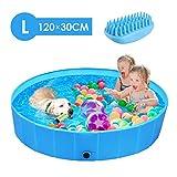 femor Hundepool Swimmingpool Für Hunde und Katzen Schwimmbecken Hundebadewanne Faltbarer Pool mit...