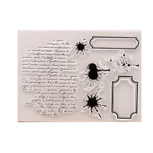 Hothap Lustige Leichte Dauerhafte Worte DIY Silikon Klar Stempel Mit Hochwertigem Material