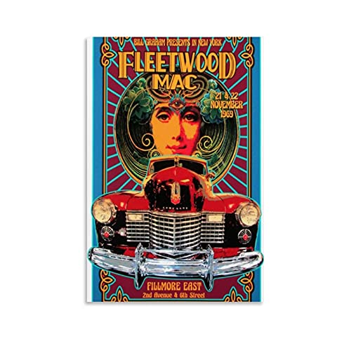 Fleetwood Mac 1969 - Póster decorativo para pared y póster de 40 x 60 cm
