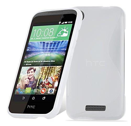 Cadorabo Hülle für HTC Desire 320 in HALB TRANSPARENT – Handyhülle aus flexiblem TPU Silikon – Silikonhülle Schutzhülle Ultra Slim Soft Back Cover Hülle Bumper