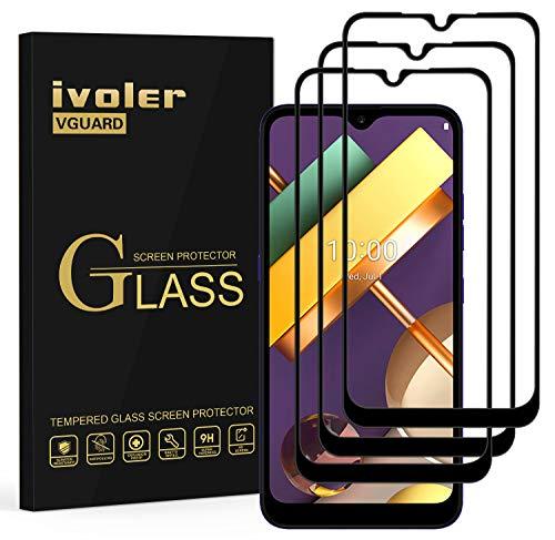 ivoler 3 Stücke Panzerglas Schutzfolie für LG K22, [Volle Bedeckung] Panzerglasfolie Folie Hartglas Gehärtetem Glas DisplayPanzerglas für LG K22