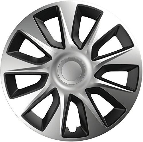 ZentimeX Z744920 Radkappen Radzierblenden universal 17 Zoll Silver-Black