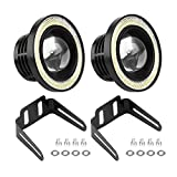 EBTOOLS Fari Angel Eyes Fendinebbia LED grande punto fari universale COB LED antinebbia angel eyes Luci anabbaglianti per veicoli con luci diurne Luce di marcia diurna a LED da 10W 2Pcs (3.0')