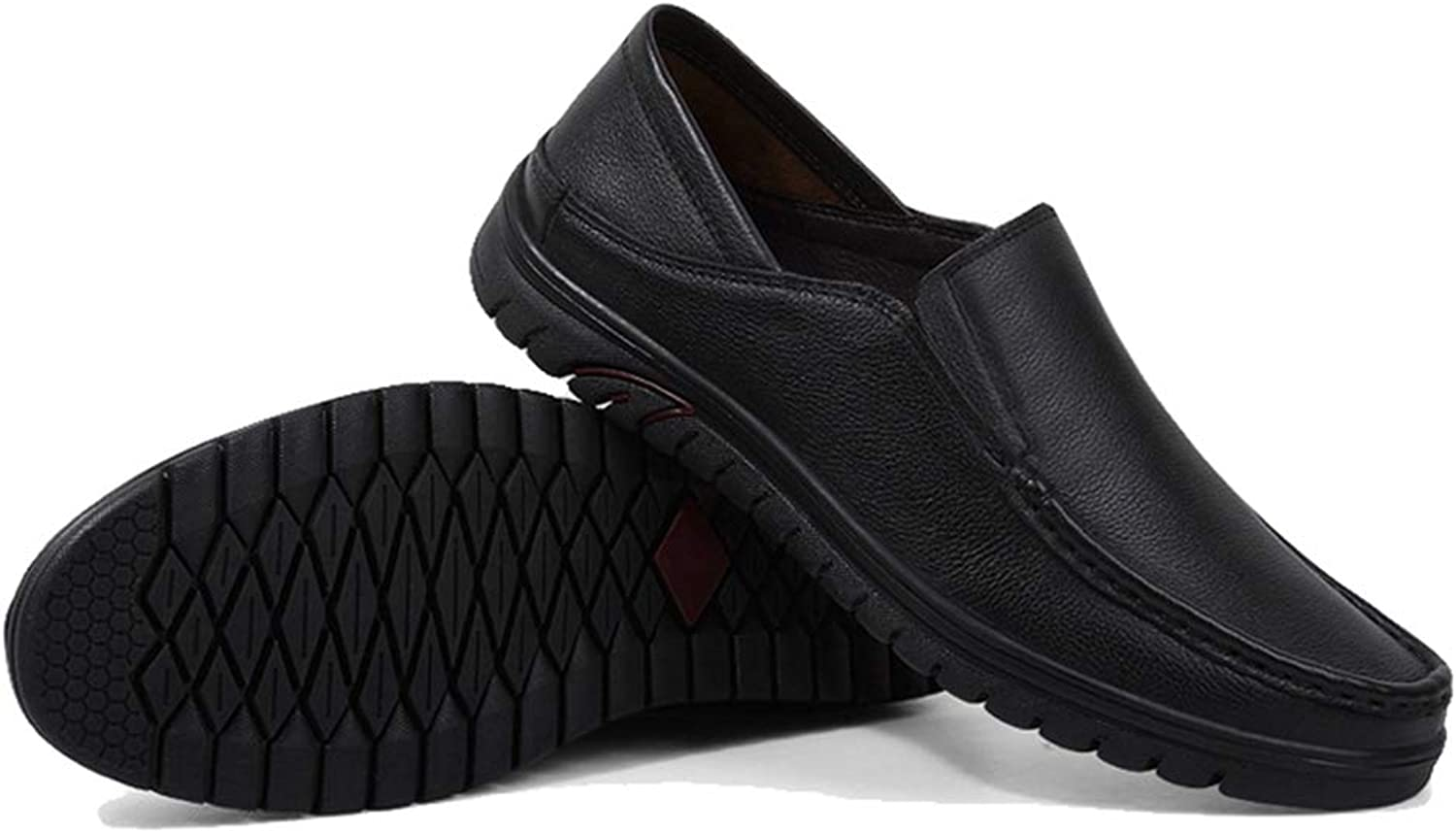 Phil Betty Mens Casual shoes Breathable Non-Slip Wear-Resistant Business Flat Loafers shoes
