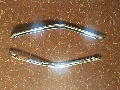 ABS Chrome avant Centre Grille Grille Trim 2 pcs