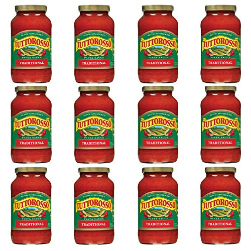 commercial Tutt Rosso Traditional Pasta Sauce, 24 oz Can (12 Pack) jarred pasta sauce