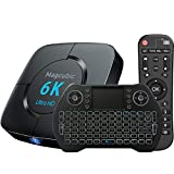 TV Box Android 10.0 4GB 64GB Decodificador Smart TV Box H616 USB 2.0 1080P Ultra HD 4K 6K HDR WiFi 2.4G 5.8GHz BT 4.1 Reproductor Multimedia de Transmisión con Mini Teclado Inalámbrico Retroiluminado