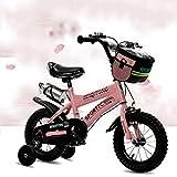 Great St. DGF Bicicletas para niños 2-3-4-6-7-8-9-10 años Vieja Bicicleta bebé niña Carro de bebé 14161820 Pulgadas bebé Bicicleta ( Color : Pink , Tamaño : 16 Inches )