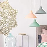 BFMBCH Mandala Vinyl Wandtattoos Haus Yoga Applique Kreative Aufkleber Schlafzimmer Wohnzimmer Dekoration Tapete Wandaufkleber Rosa XL 57 cm X 113 cm