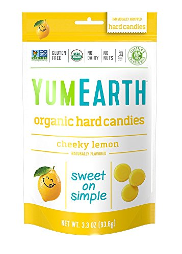 YumEarth Organic Cheeky Lemon Hard Candy, 3.3 Ounce (Pack of 6)