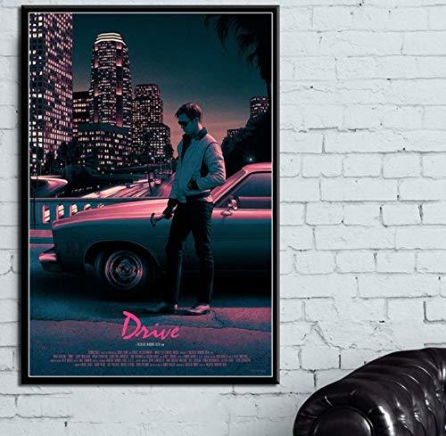 MZCYL Leinwand Malerei Wandkunst Bild Movie Drive Poster Drucken Leinwand Malerei Geschenk Ohne Rahmen 40 * 60 cm