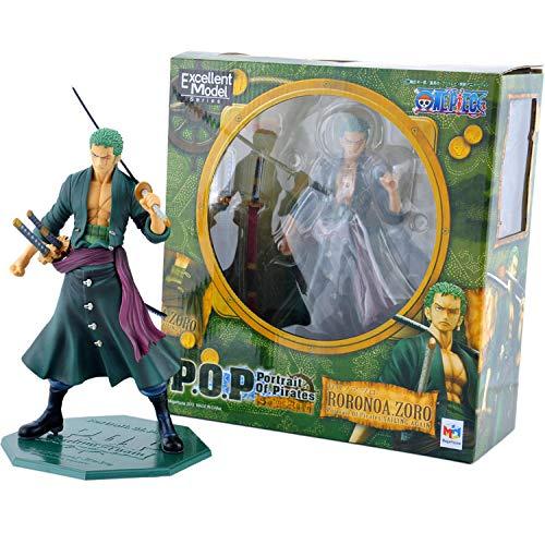 xstorex Anime One Piece 23cm P O P Pop Roronoa Zoro después de 2 años PVC Figura de Juguete PVC Figura de acción Colección Modelo de Juguete