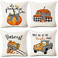 4-Pack Hexagram 18 x 18 Inch Fall Pillow Covers
