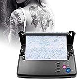 KKTECT Máquina de tatuaje de transferencia Impresora de tatuaje de transferencia Impresora de transferencia de plantillas fotocopiadora con 10 piezas de papel de transferencia térmica