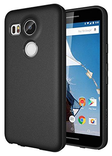 Diztronic Nexus 5X Case Full Matte Slim-Fit Flexible TPU Case (Revision 2) for LG Nexus 5X (2015) - Black - (N5X-FM-BLK-R)