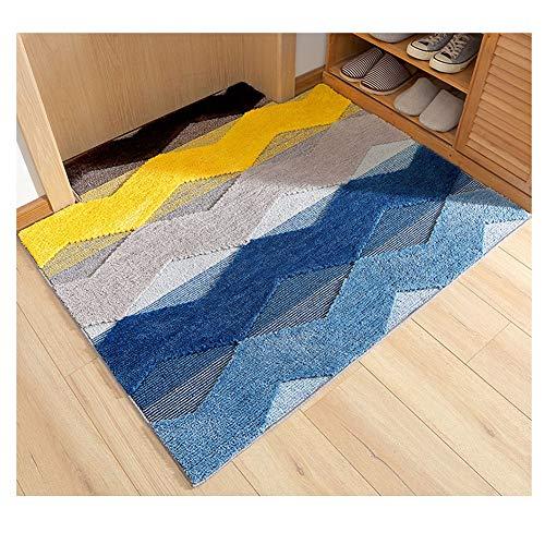 GELing Moderno Simple Alfombra Antideslizante Felpudo para Interiores y Exteriores,Lavable Absorbe rápidamente la Humedad y resiste Las alfombras de Suciedad 3 80 * 120cm