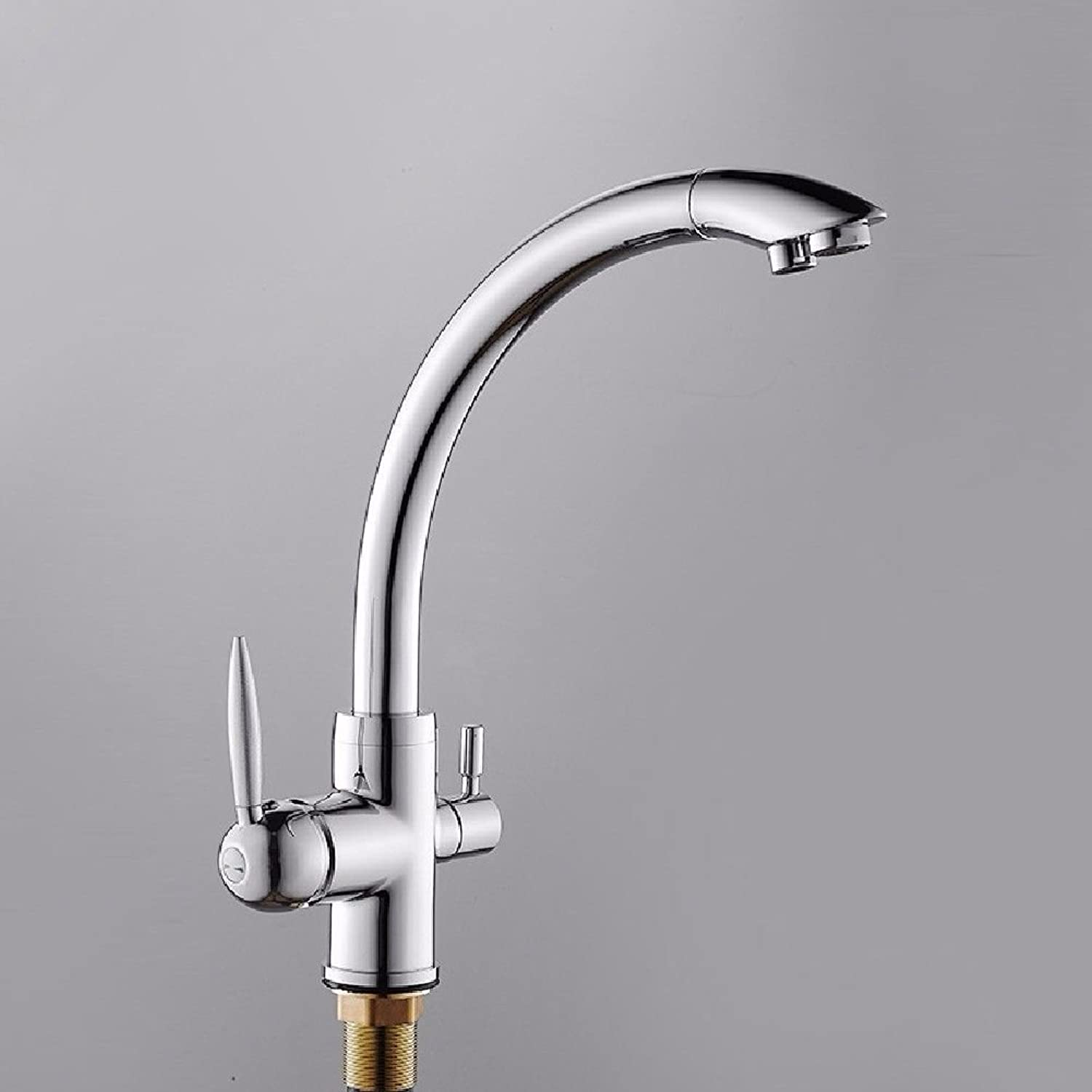 Lpophy Bathroom Sink Mixer Taps Faucet Bath Waterfall Cold and Hot Water Tap for Washroom Bathroom and Kitchen Copper Hot and Cold Copper Double-Grade Water Purification