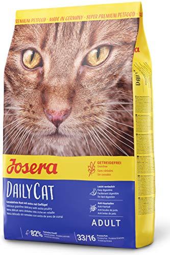 JOSERA DailyCat, getreidefreies Katzenfutter mit Geflügel, Kräutern und Früchten, Super Premium Trockenfutter für ausgewachsene Katzen, 1er Pack (1 x 400 g)
