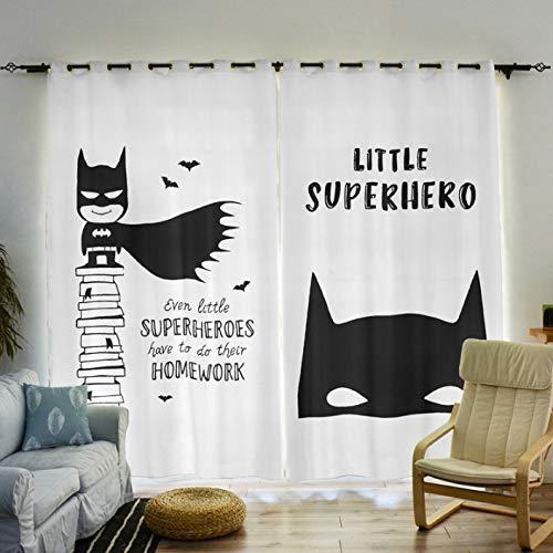Vorhänge Frisches Mädchen Junge Kinderzimmer Kindergarten Schlafzimmer Raumhohe Fenster Cartoon Nordic Batman Marvel Einfache Dekoration