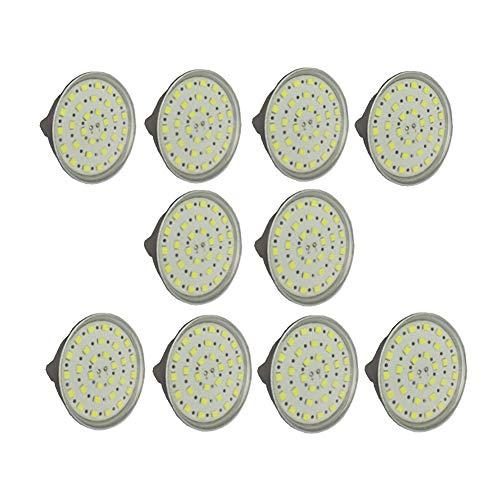 SGJFZD Bombillas LED MR16 Pail MR16 24 voltios GU5.3 Base de bi-Pin de 6 vatios (Equivalente de 50 vatios), 500 lúmenes AC/DC 24-40V Spotlight LED Bombillas [Clase de energía A ++]