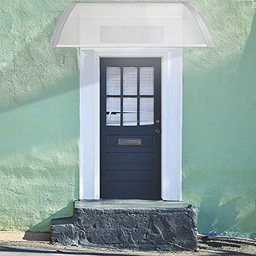 Pensilina Tettoia per Porta, in Alluminio, Tenda da Veranda Pensilina, per Porta o Finestra per Esterno, Disponibili in Diverse Misure (100 x 150 CM)