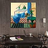 KWzEQ Paisaje Figura Lienzo Pintura Mural decoración Moderna decoración del hogar,Pintura sin Marco,60x60cm