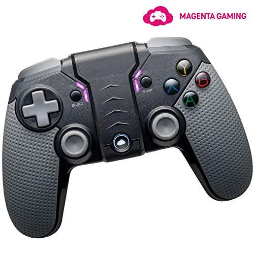 Magenta Gaming-Controller | Bluetooth Controller für Windows, Mac, Android- & iOS-Smartphones | Gamepad mit Handy-Halterung für Online-Gaming | inkl. 1 Monat Cloud-Spiele per MagentaGaming App