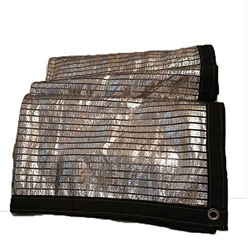 ANHPI Filet d'ombrage Couvre-sol Feuille d'aluminium Isolation thermique Tarp Shelter Bâche Polyéthylène Crème solaire Refroidir Balcon sur le toit extérieur (Size : 3M*6M)