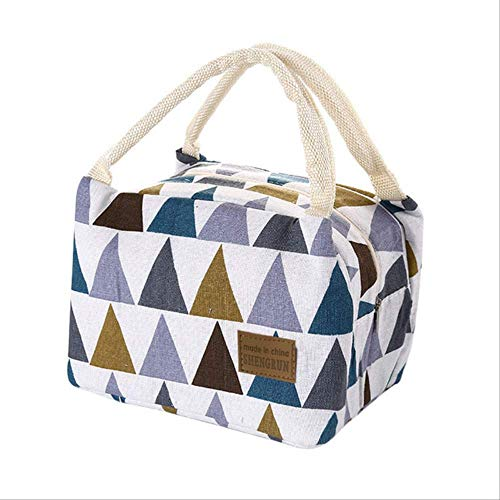 hyin Pranzo al Sacco Thermal Isolato Canvas Box Tote Bag Food Lunch Canvas Tin Foil Borse per Donne Bambini Men Camping di Porcellana Multi
