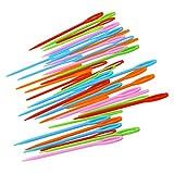 ROSENICE 40 stücke Kunststoff Nähnadeln für Kinder Nähen Handwerk und Nadel Projekte 7 cm und 9...