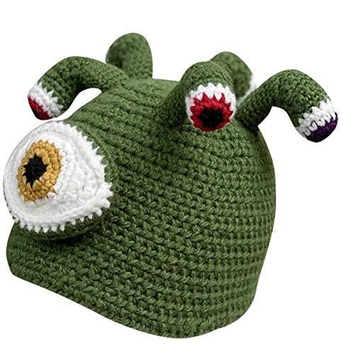 CNZXCO Sombrero de Pulpo, Ojos Grandes de Invierno pequeño Monstruo Hecho a Mano Sombrero de Punto Divertido Que se Presenta Gorro de Lana Pulpo tentáculo Adulto Sombrero
