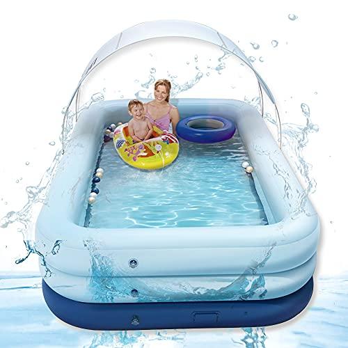 MZNTBW Piscina hinchable para adultos, con techo para niños, airbag independiente, con capa de PVC, gruesa, resistente al desgaste, para exterior, interior, jardín, juego de verano