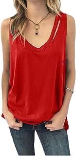 Women Summer Cut V-Neck Tees Shirt Cute Tank Tops