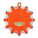 LED Road Flare, luz de seguridad magnética de emergencia para balizas de carretera con gancho Funciona con pilas para el rescate de embarcaciones marinas Camping Senderismo
