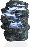 A-Generic Springbrunnen Niagara mit LED Beleuchtung IN-&Outdoor Zimmerbrunnen Gartenbrunnen Luftbefeuchter