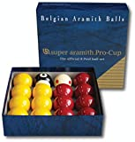 """Aramith Pro Cup Red and Yellow 2"""" Inch Pool Ball Set - Tournament Quality Ball Set"""
