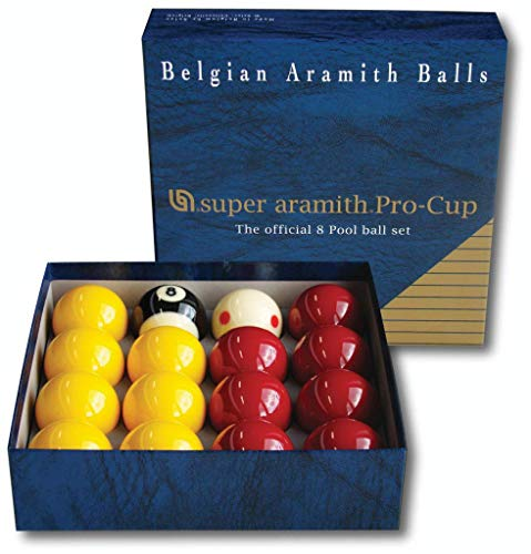 Aramith Super Pro-Cup 8 - Set de pelotas de billar (50,8 mm) ✅