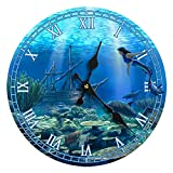 Sea Creations Mermaid Glass Wall Clock New 13'X 13' Home Wall Decor Coastal Nautical Beach