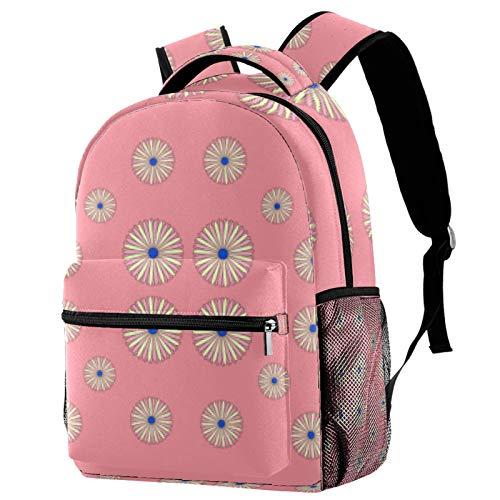 Patterned Umbrella Backpack School Bag Bookbag Hiking Travel Rucksack