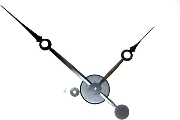 高扭矩时钟运动无声扫加长轴 14 在长的平衡黑色花式剑手 No7 与墙壁安装枢纽