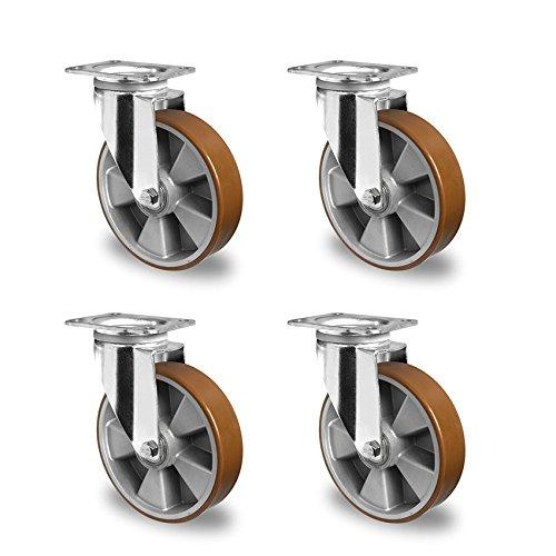 Rollensatz 4 Lenkrollen 200 mm Polyurethan