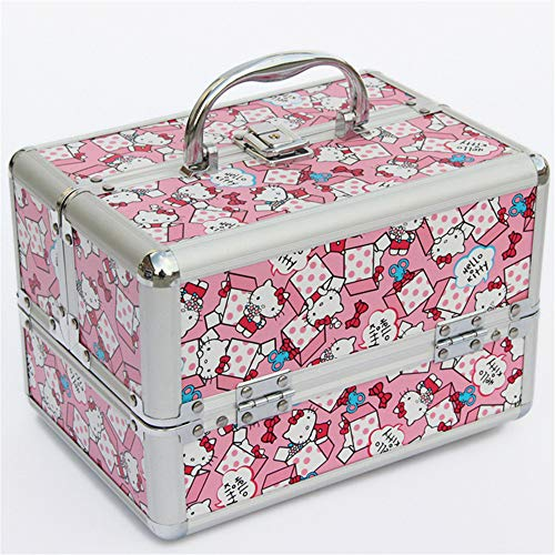 CCHM Voyage Maquillage Organisateur Mignon De Stockage Portable Boîte À Bijoux Boîte À Cosmétiques Conteneur pour Sac Valise,Kittycat