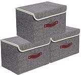 E-MANIS Cajas de almacenaje,Cajas de Almacenamiento con Tapas,Set de 3...
