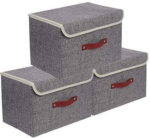 E-MANIS Set de 3 Boîte de Rangement,Caisses de...
